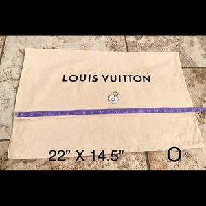 "Louis Vuitton dust bag 22"" X 14.5"" O"